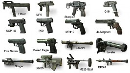 mw3 secondary weapons