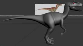 Jurassic Park velociraptor concept