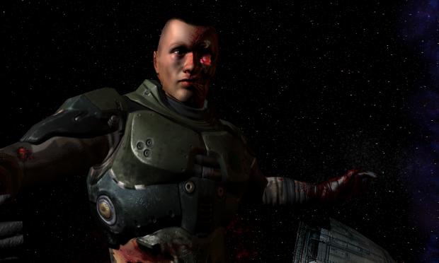 the begining of Quake 4 Hi Def