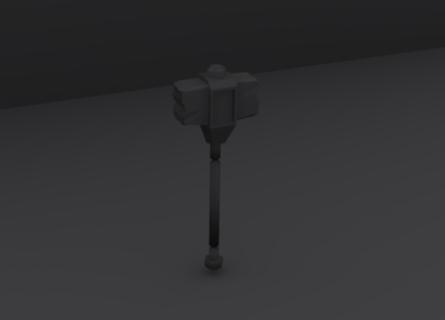 Dwarven obsidian war hammer