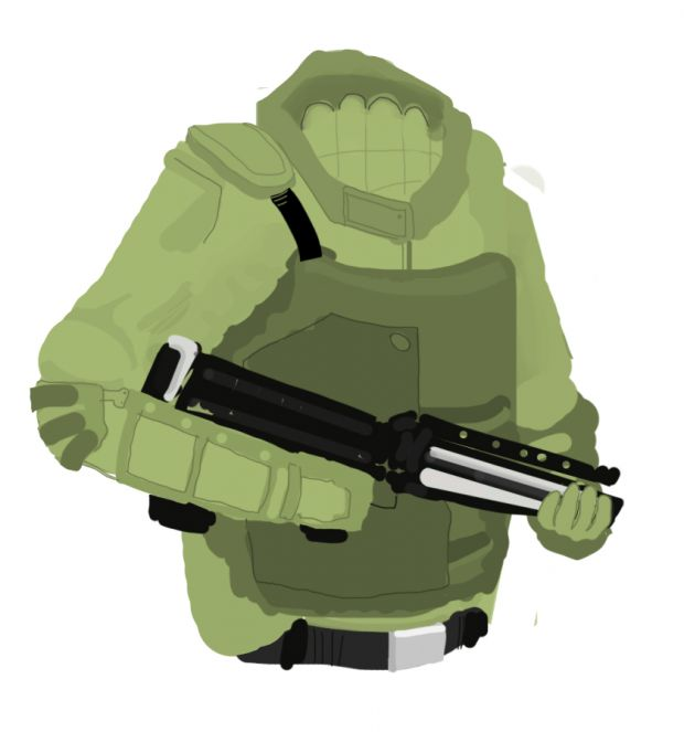 Green solider