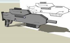 Futuristic Gun Model WIP