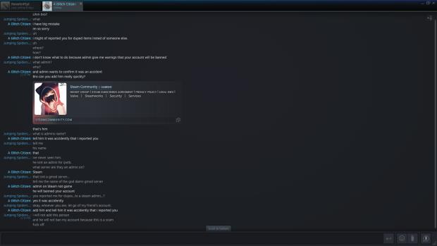screenshot of scam attempt