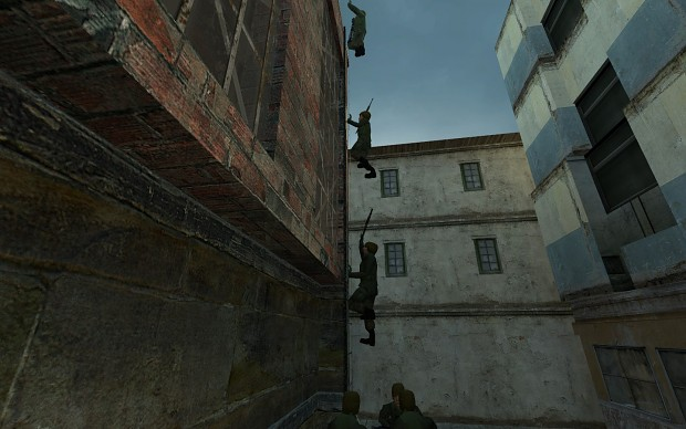 Conscripts climbing