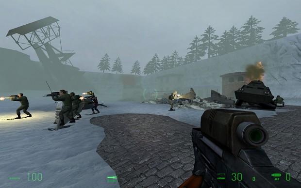 Suppressing fire against a sniper