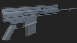 FN Scar H - SubD modelling
