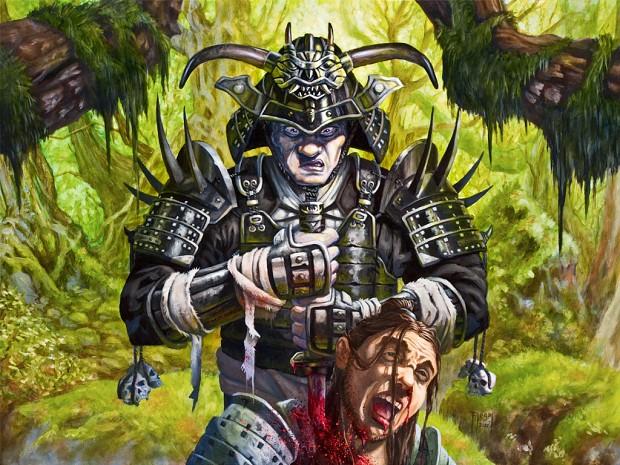 samurai head chop