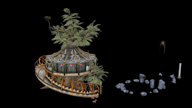 Early unpolished Render of the Tree of Life Rework