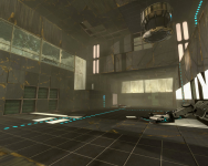 "Portal 2 map ""One in the Chamber"""