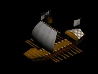 Mediaeval longship