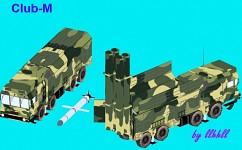 Club-M Coastal Missile System with 3M-54 missile
