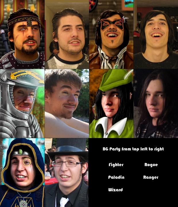 Baldurs Gate Character Portraits