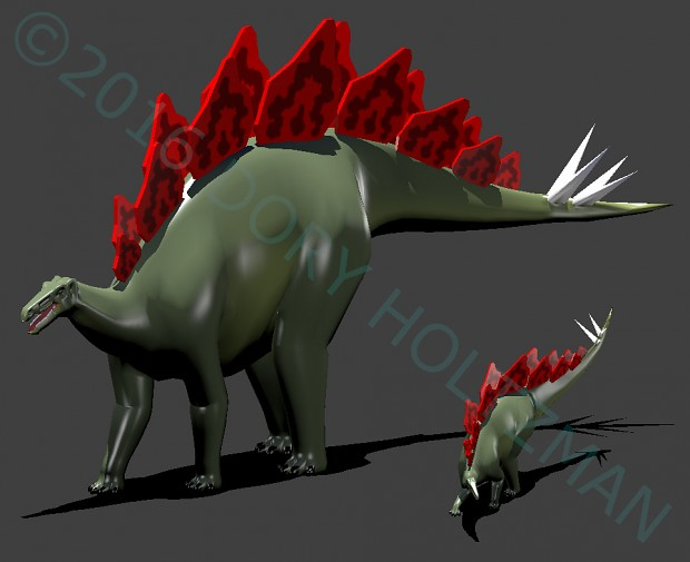 Cartoon Stegosaurus Model