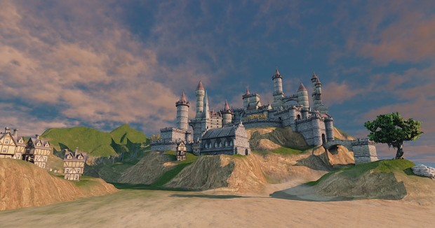 Castle on the Mountain WIP
