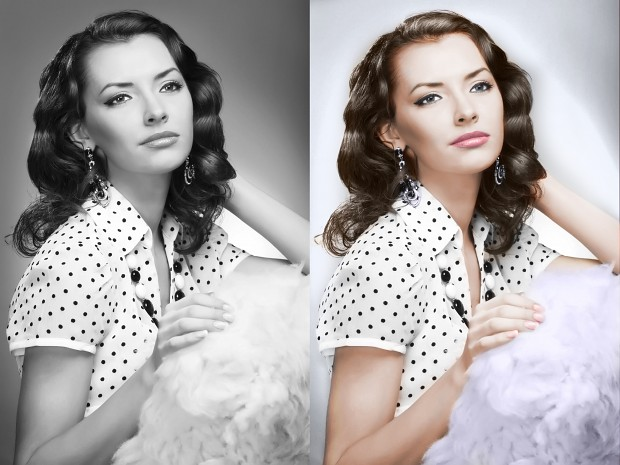 From black and white to color photo!