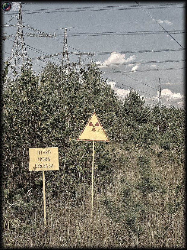 Near the Chernobyl exclusion zone