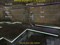 Unreal Tournament 2004 3v3 Outcome