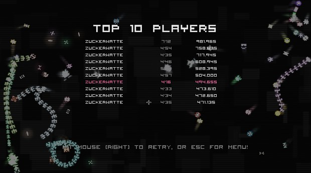 Invaders: Corruption Highscores