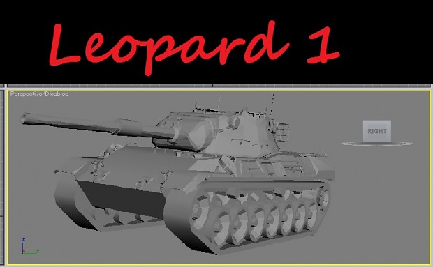 Leopard 1 in 3ds Max :D