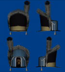 Danish 1789 grenadier hat model