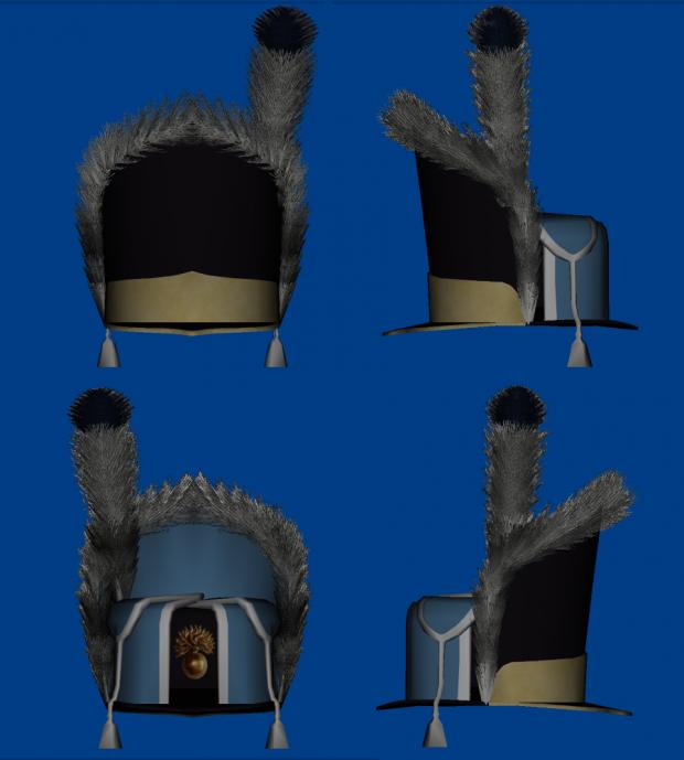 Danish 1789 grenadier hat model