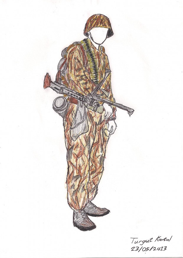 1944 German MG42 Soldier [Sketch by me]