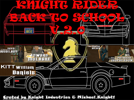 KNIGHT RIDER BACK TO SCHOOL LOGO V.2.0
