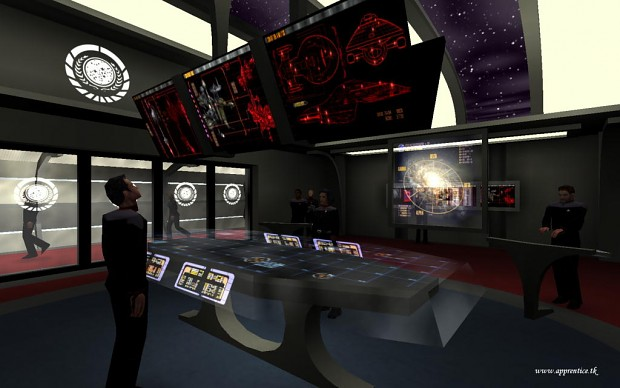 "Promotional screenshot of the map ""Battlestar Aurelia"""