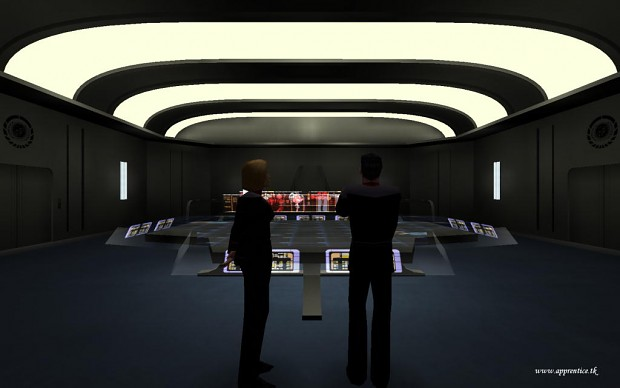 "Promotional screenshot of the map ""Battlestar Aurelia"""