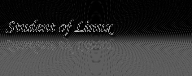 Student of Linux banner.