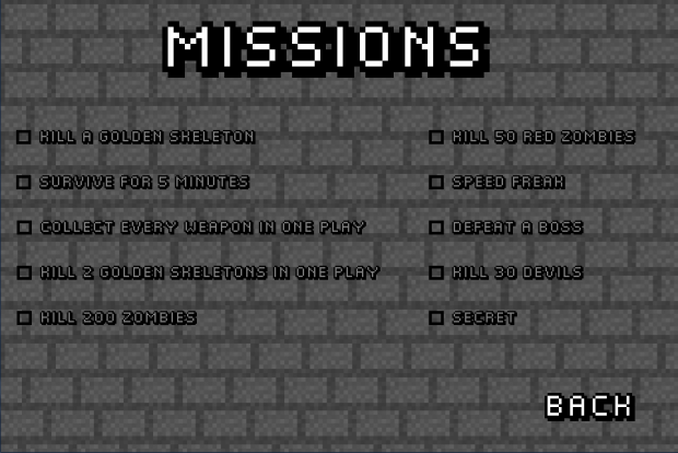 Title/Mission screens