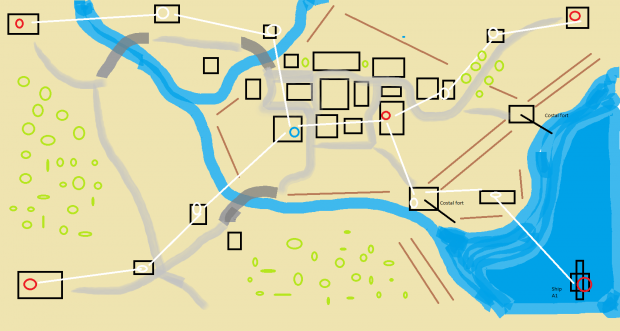 Costal map concept Heroes and Generals
