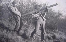 U.S. GI's having fun with a Panzerschreck