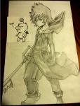 Drawing of Roxas