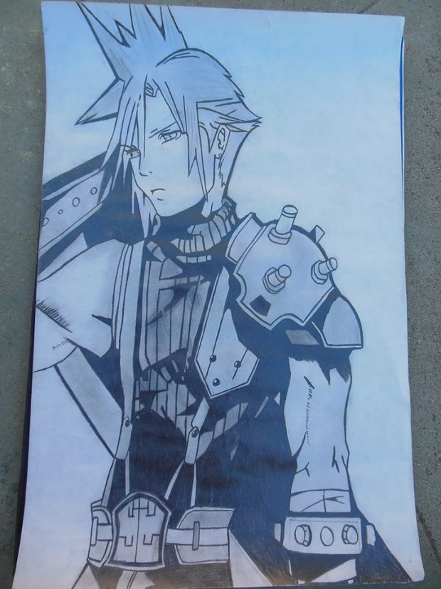 Drawing of Cloud Strife