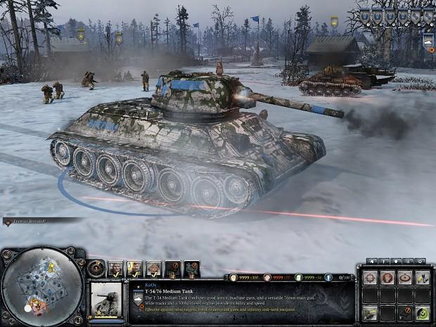 soviet whitewash camo on t34/76