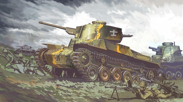 九七式中戦車チハ(新砲塔) 戦車第11連隊所属 image - Yamato1945