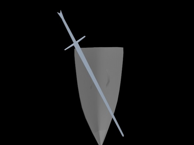 Sword & Shield untextured model Back