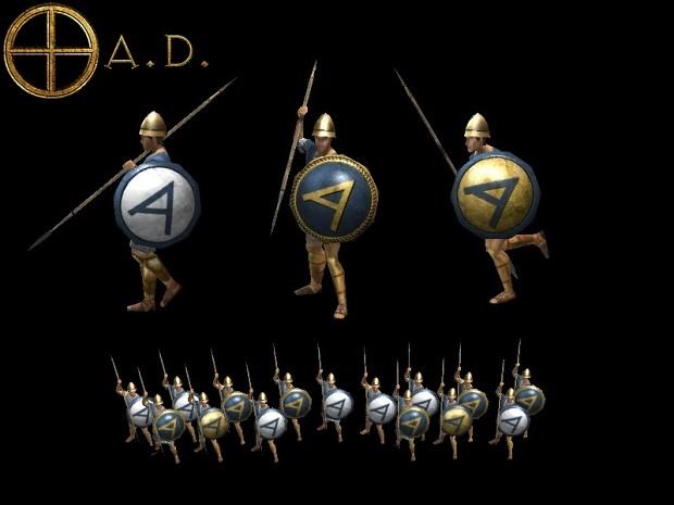 WIP - 0AD: Empires Ascendant - Athenian faction retexture