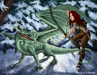 Archer and Dragon