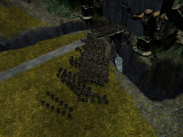 Erebor with Dwarven troops