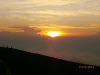 the sunrise in mount prau
