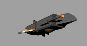Draconian scout ship model