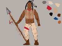 Native American Spearman Concept