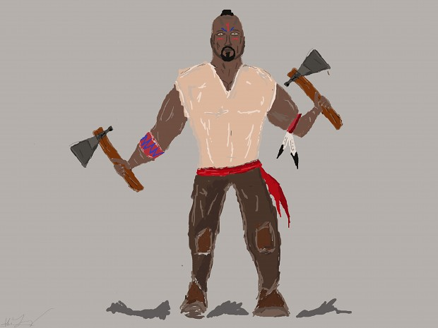 Native American Axe Brute Concept