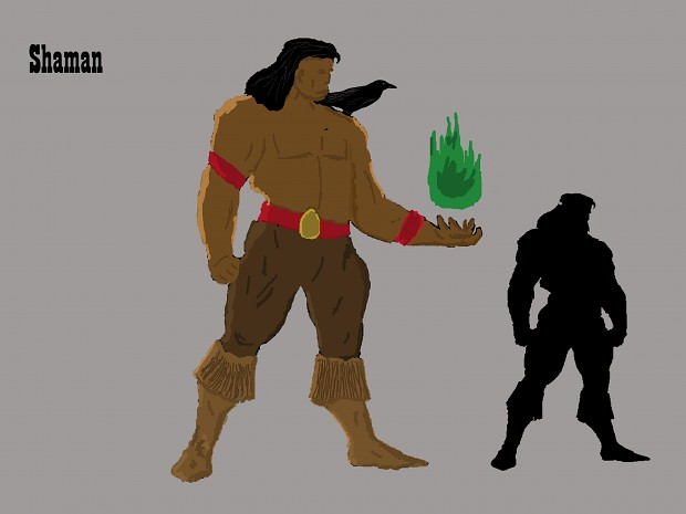 Native American Shaman Concept Art