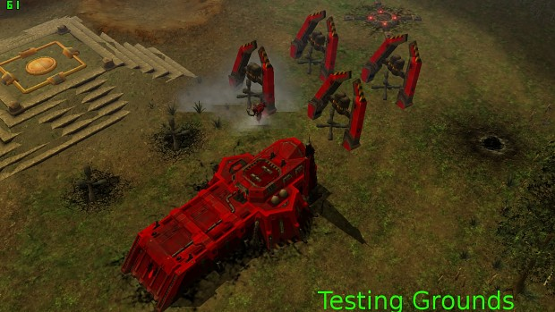SM and ork tank traps with building animations