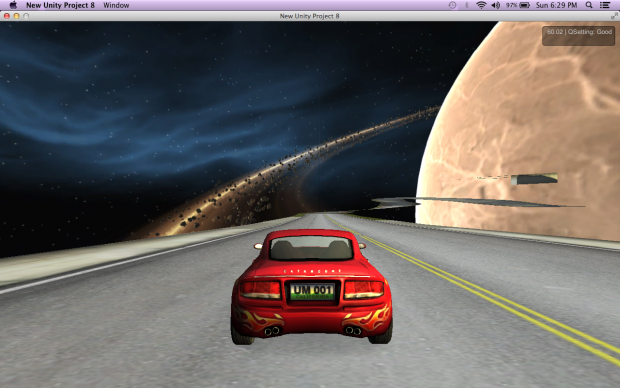 Driving in space
