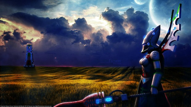 Dawn of War Eldar Farseer looking at the Horizon..