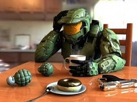 Master Chief getting breakfast